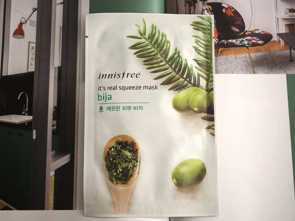 Innisfree Bija It's real squeeze mask