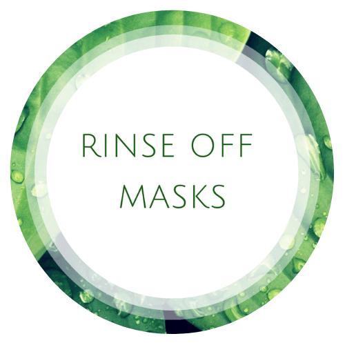 Rinse off masks